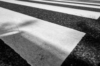 zebrastreifen - walkmühlstr. - van-dyck-str. - detail (sw) - PHOTOGALERIE WIESBADEN - wiesbaden - impressionen 3